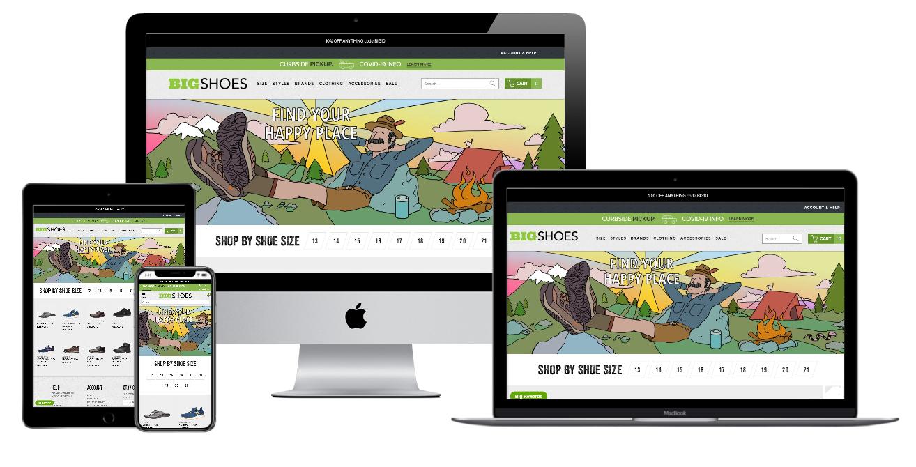 Bigshoes Website Mockup