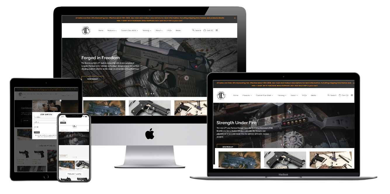 Langdon Tactical Website Mockup
