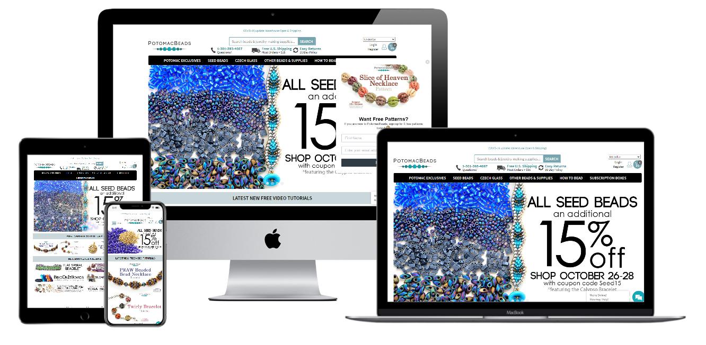 Potomac Beads Website Mockup