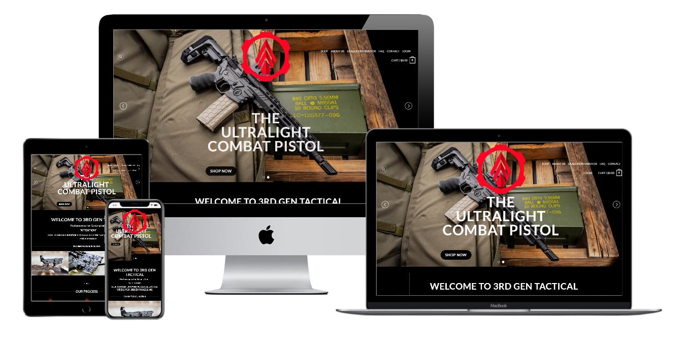 3rd Gen Tactical Website Mockup
