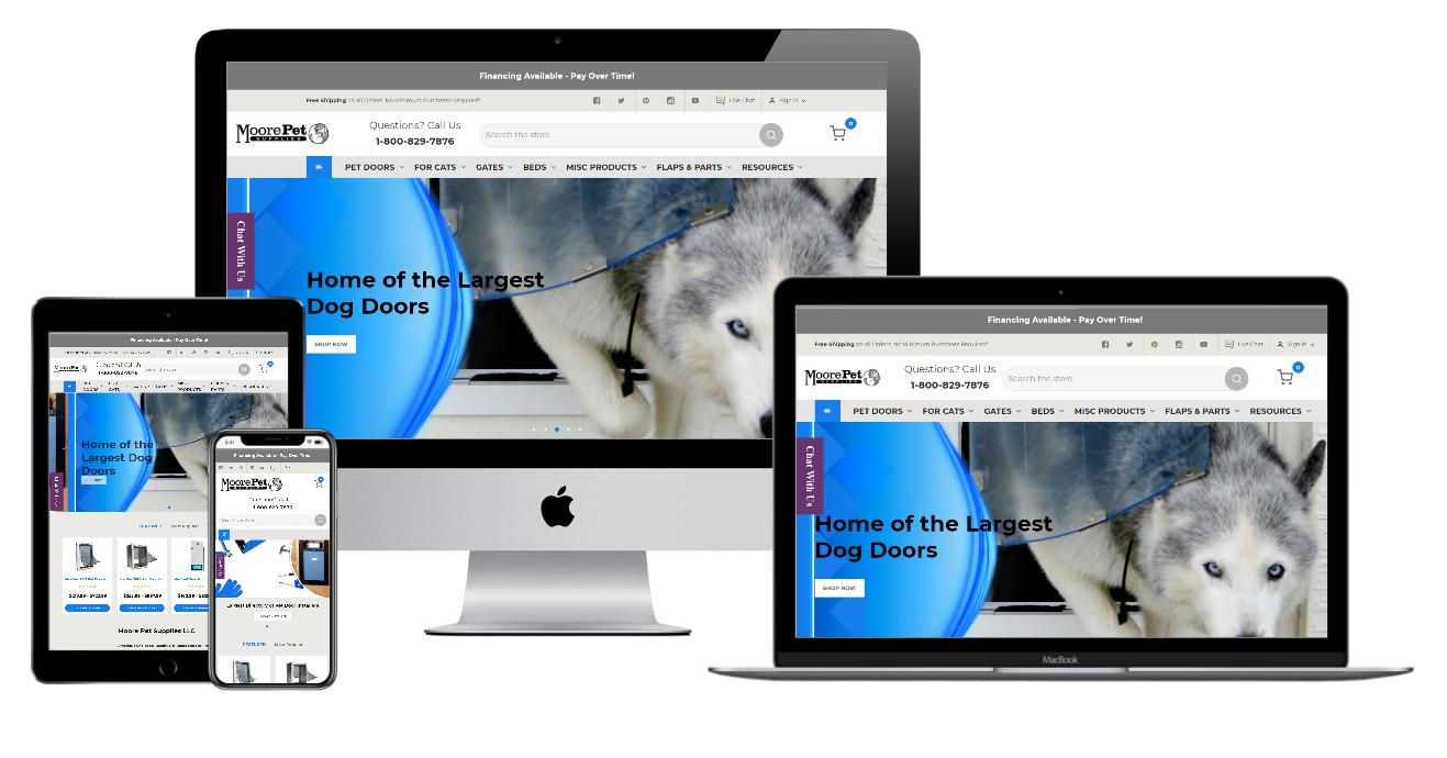 Moorepet Supplies Website Mockup