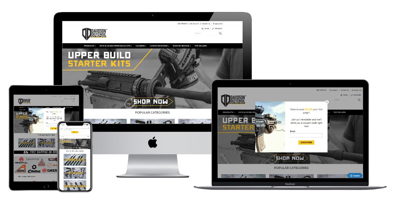 Davidson Defense Website Mockup